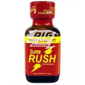 super rush 30ml PWD powered with pig solvent logo