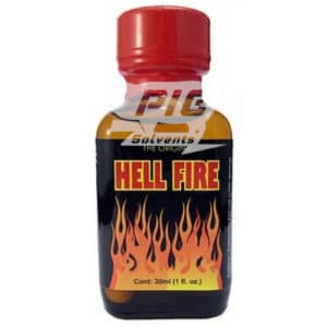 hellfire Poppers 30ml with pig solvent logo