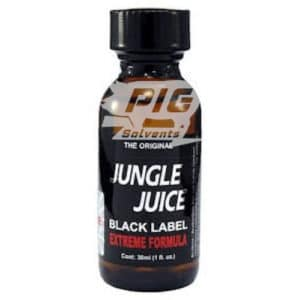 jungle juice black label 30ml tall with pig solvent logo