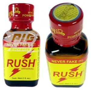 classic rush poppers 30ml with pig solvent logo